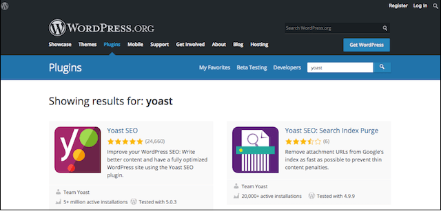 Website Design WordPress Yoast Plug-in Page