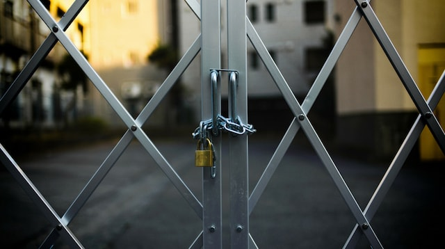 Website Security Locked Gate